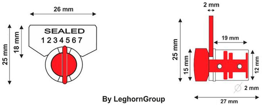 sigillo filo twist seal disegno tecnico