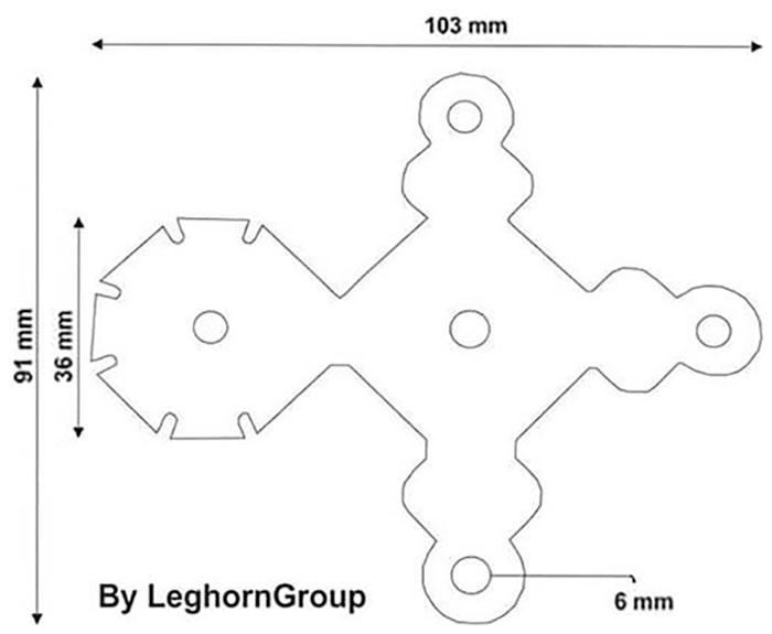sigillo per pacchi alfeo seal disegno tecnico