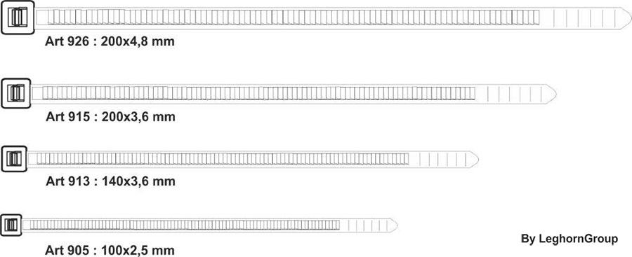 fascette autobloccanti stringitubo per elettricisti disegno tecnico