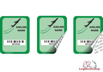 etichette di sicurezza per compagnie aeree aereoporti