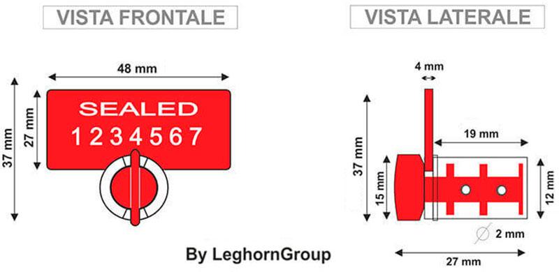 sigilli filo per contatori twist seal rfid disegno tecnico