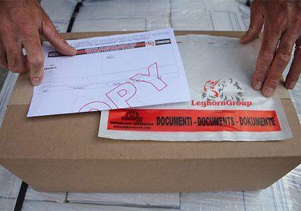 buste adesive portadocumenti packinglist
