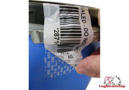 etichette di sicurezza void a rilascio inchiostro