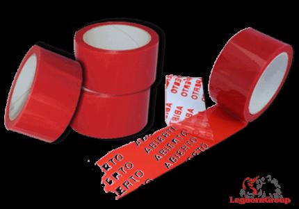 nastro adesivo di sicurezza antimanomissione