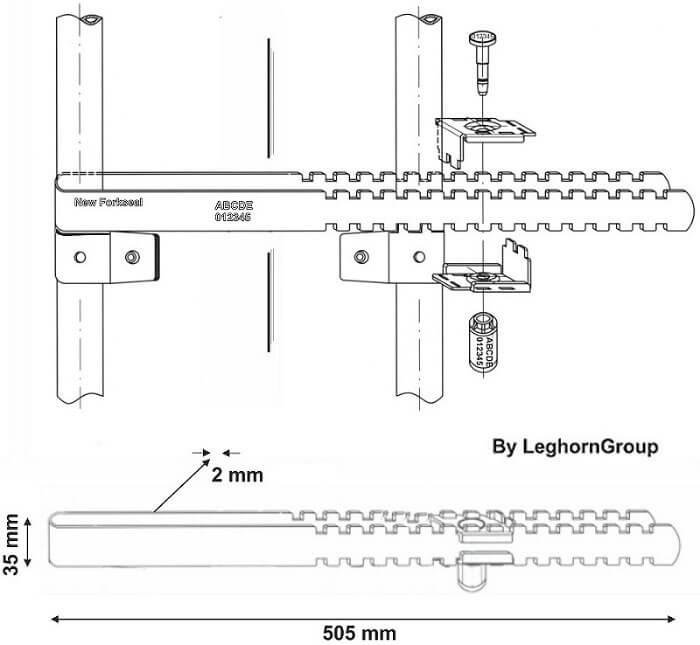 sigilli a barra per container newforkseal disegno tecnico