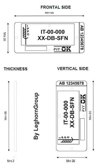 sigilli in plastica per pallets palletseal disegno tecnico