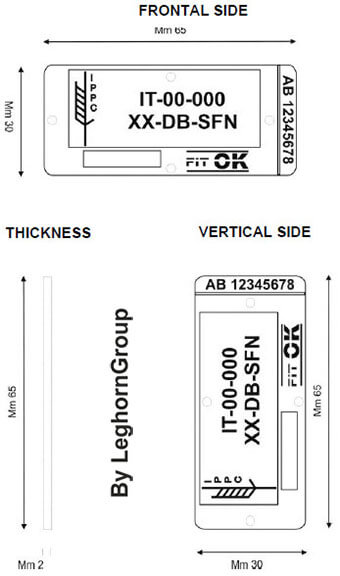 sigilli rfid in plastica per pallet palletseal disegno tecnico
