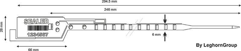 sigilli sicurezza plastica simpleseal disegno tecnico