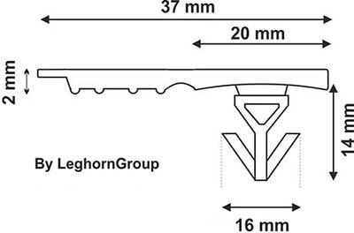 sigillo plastica contenitori casse totebox 16 mm disegno tecnico