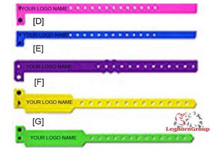 braccialetti identificativi in vinile