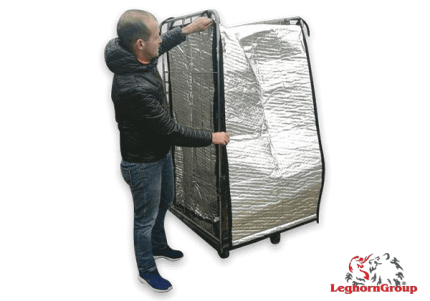 copertura termica per roll container
