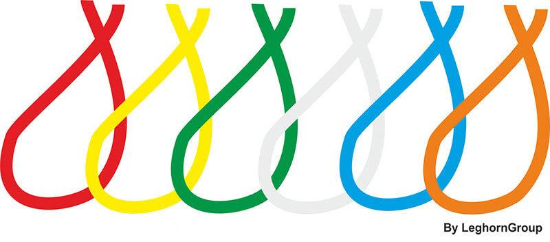 filo nylon plastificato colori