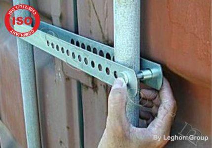 sigillo a barra per container block bar