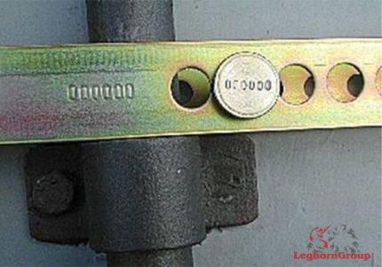 sigillo di sicurezza a barra forkseal m e