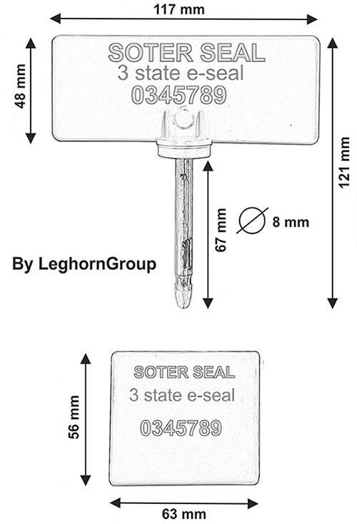 sigillo chiodo rifd uhf tre stati soter seal disegno tecnico