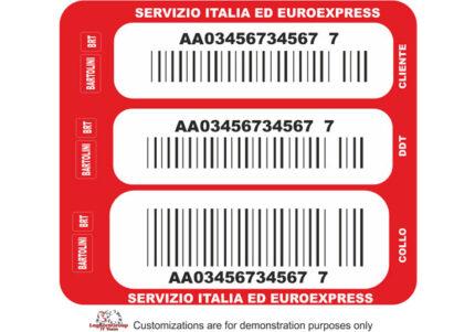 etichette logistiche